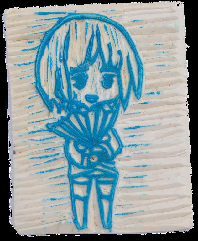 愷琳在初中一度熱愛動漫,又愛做手雕印仔,造了一個《進擊的巨人》角色阿爾敏。 class=