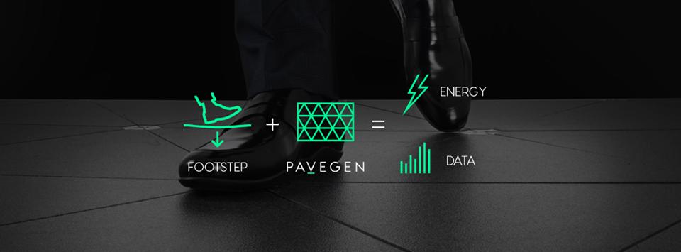 """來自倫敦的Pavegen主張 """"The energy of every footstep, captured and converted to electrical power""""。(截圖自官方網站)"""