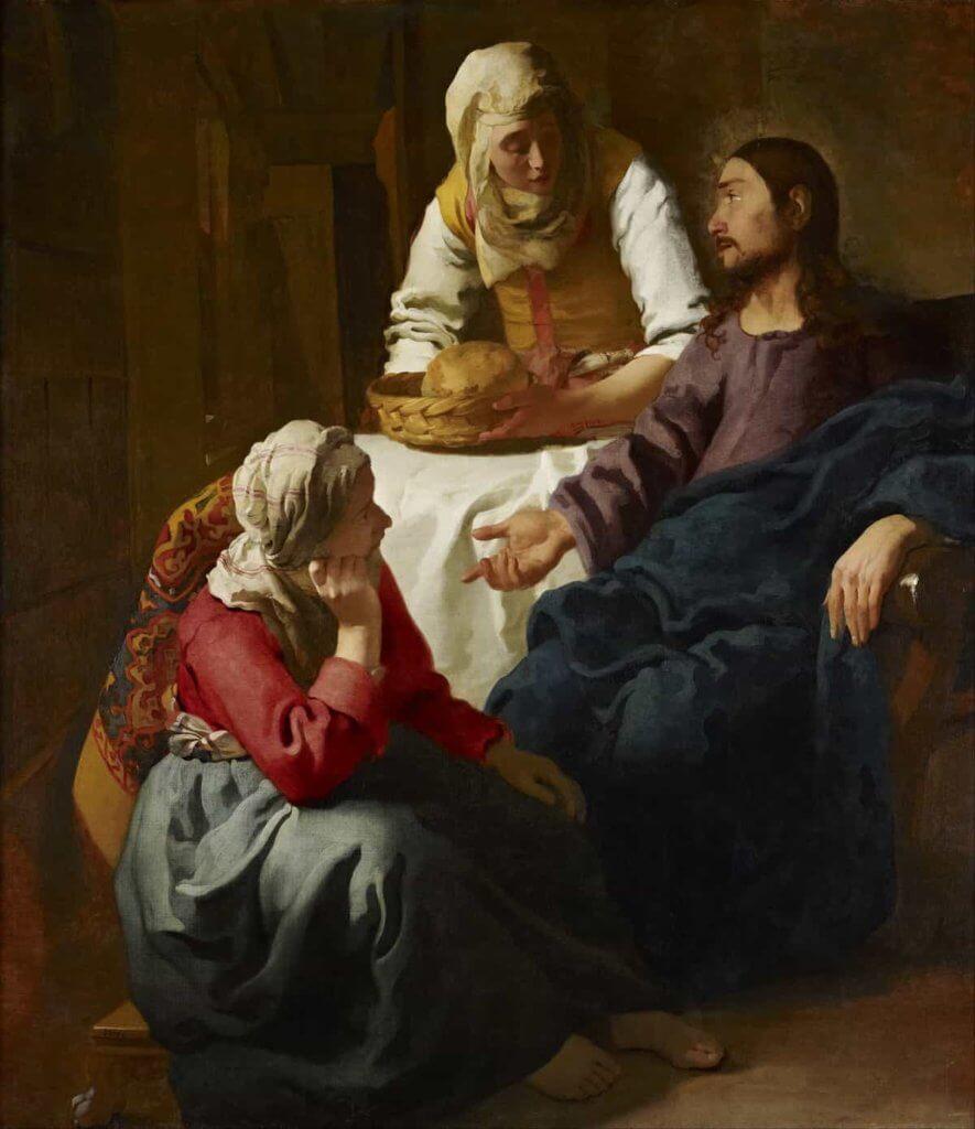 《Christ in the House of Martha and Mary》是維梅爾少數以宗教為主題的畫作