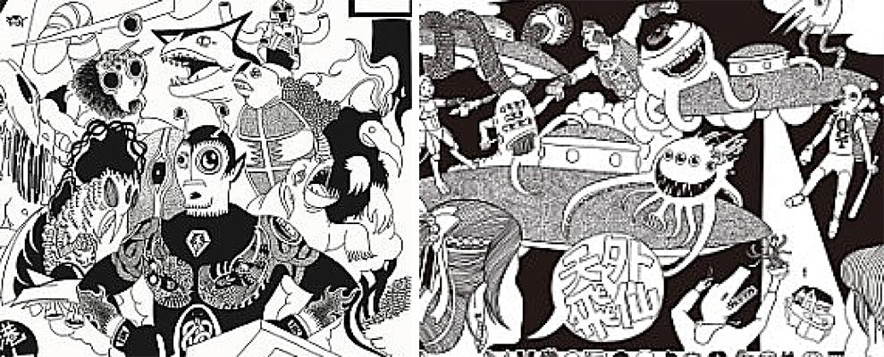 Jan Curious創作的七幅壁畫有不少以外星生物及外太空的元素。