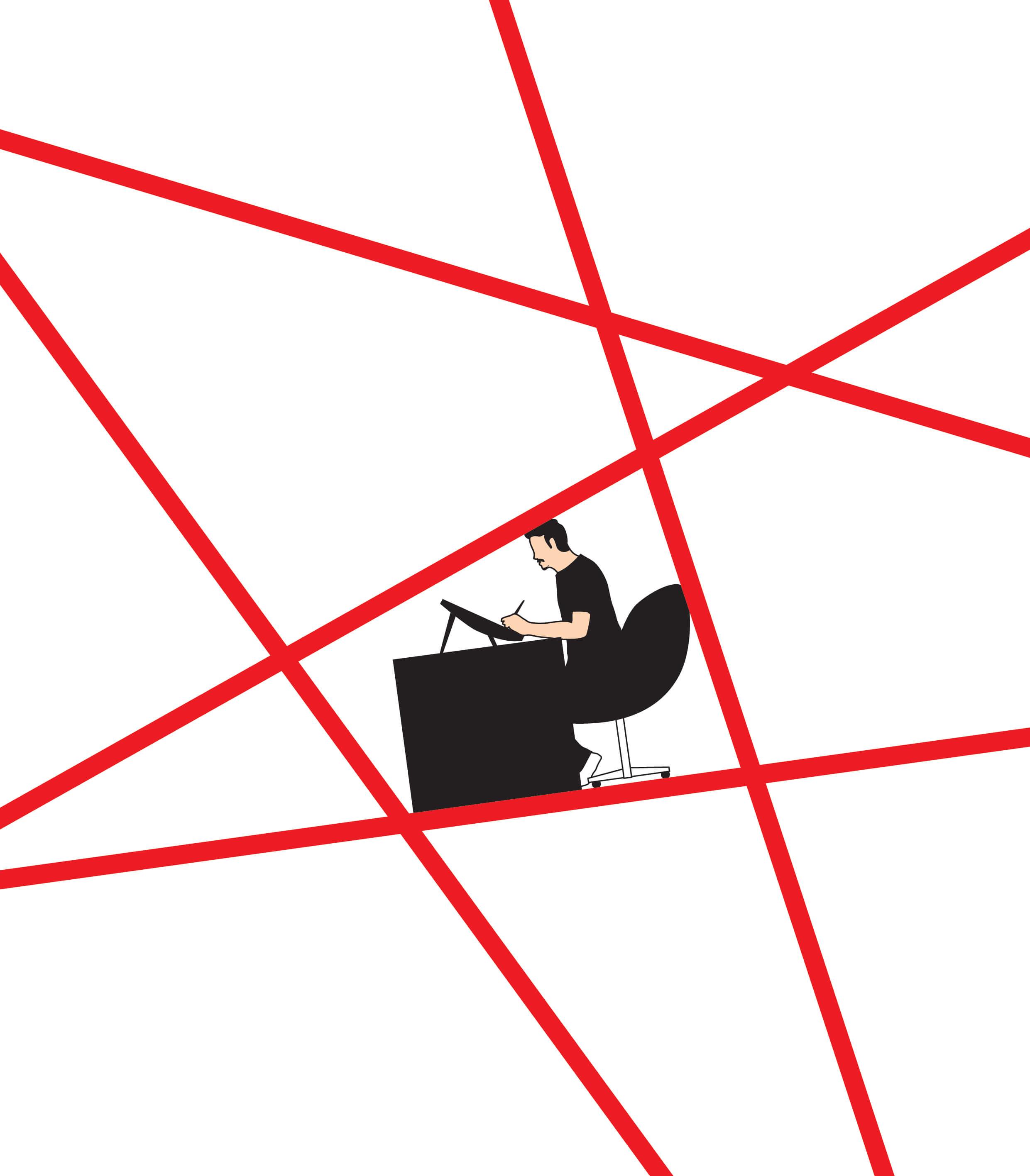 黃照達認為最大的恐懼是中共無形的紅線包圍創作人,而且紅線還不斷增加。