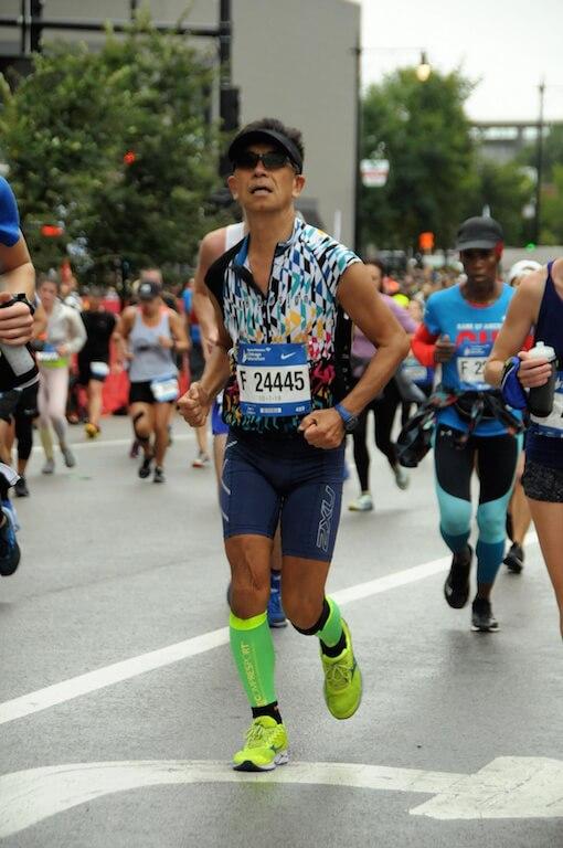 今年參加芝加哥馬拉松,成功造出PB(個人最佳成績)。