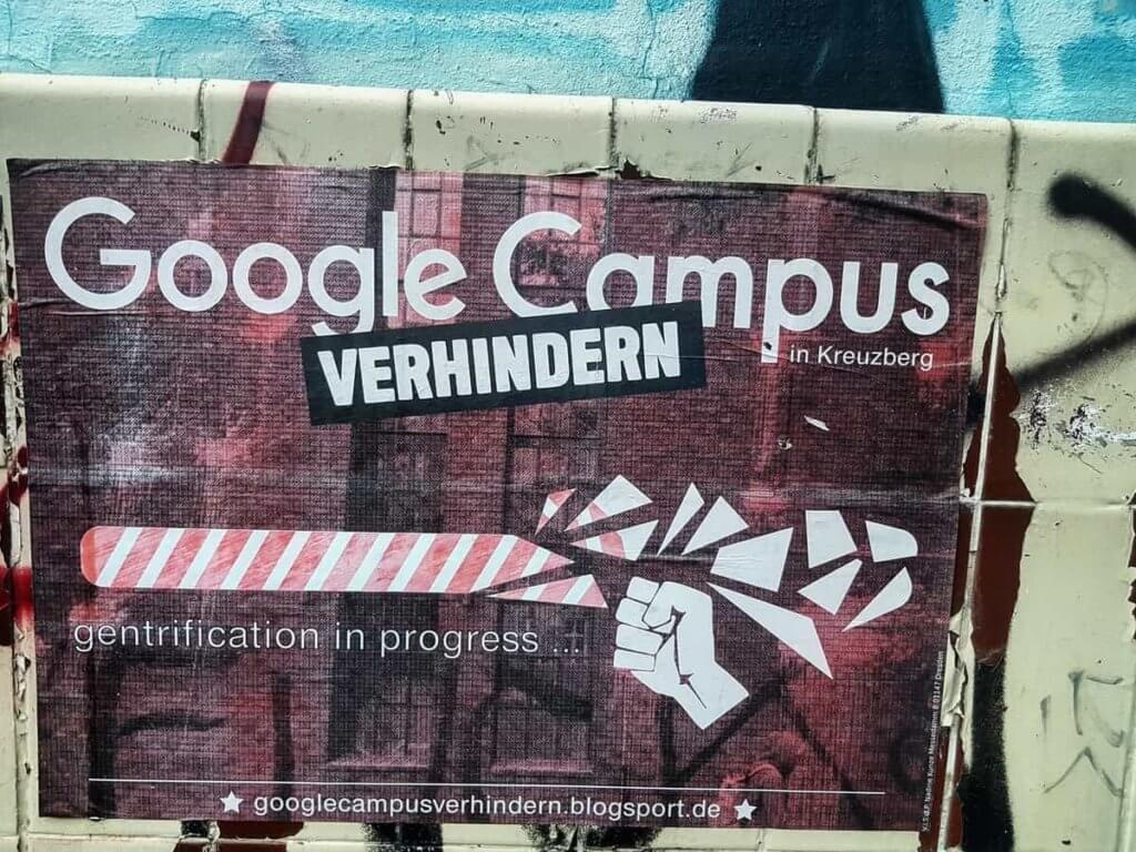 Google在柏林的科技初創公司孵化園區,最後因為柏林人的反對而難產。