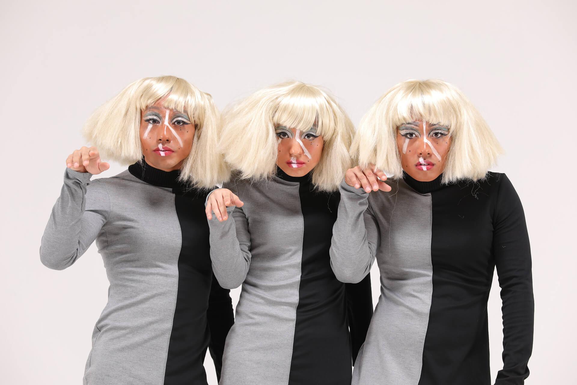 邱加希的作品呈現三個一模一樣的人。(相片提供︰Worldwide Dance Project)