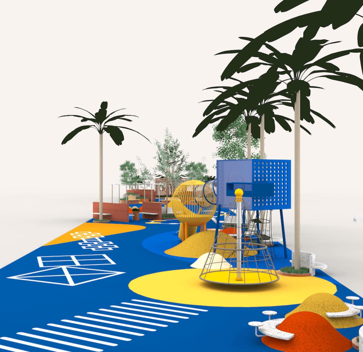 (受訪者提供)荃灣二陂坊遊樂場的新設計