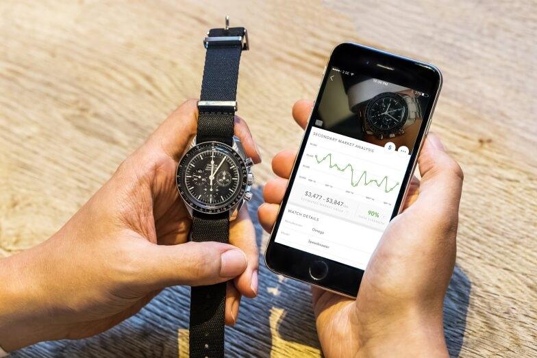 WatchBox透過應用程式分析全球二手腕錶交易數據進行報價