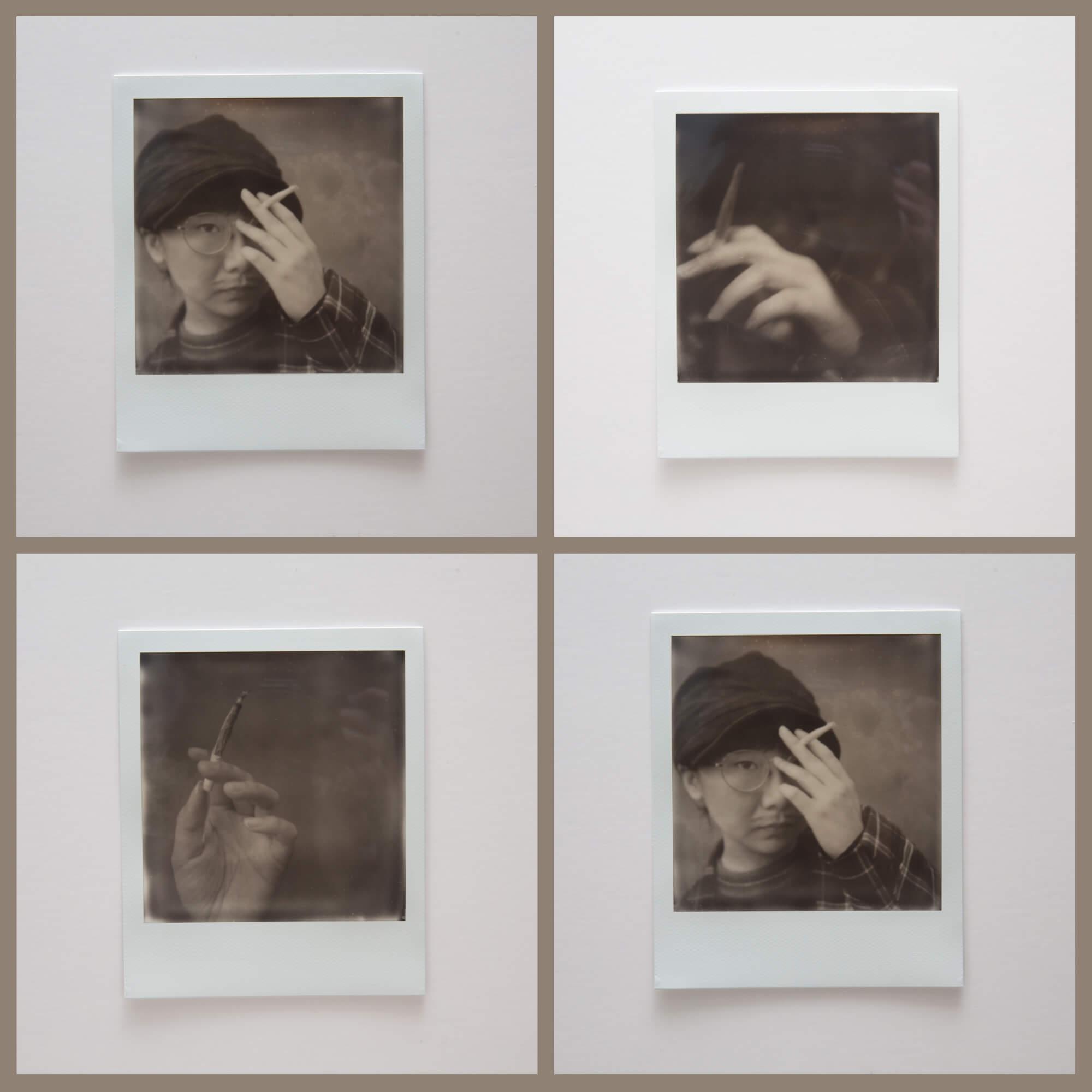 貪玩的時候只好在家戴一頂帽,畫畫鬚根,影一兩張自拍,滿足自己的想像。