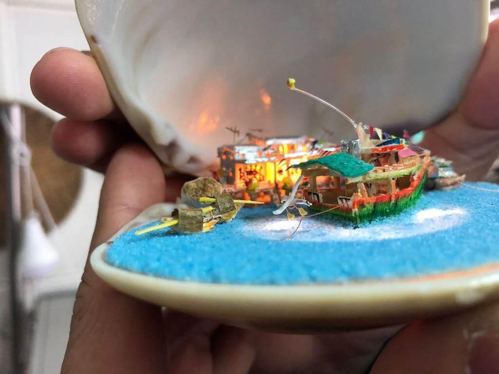 沙⽩裝置手藝作品展覽
