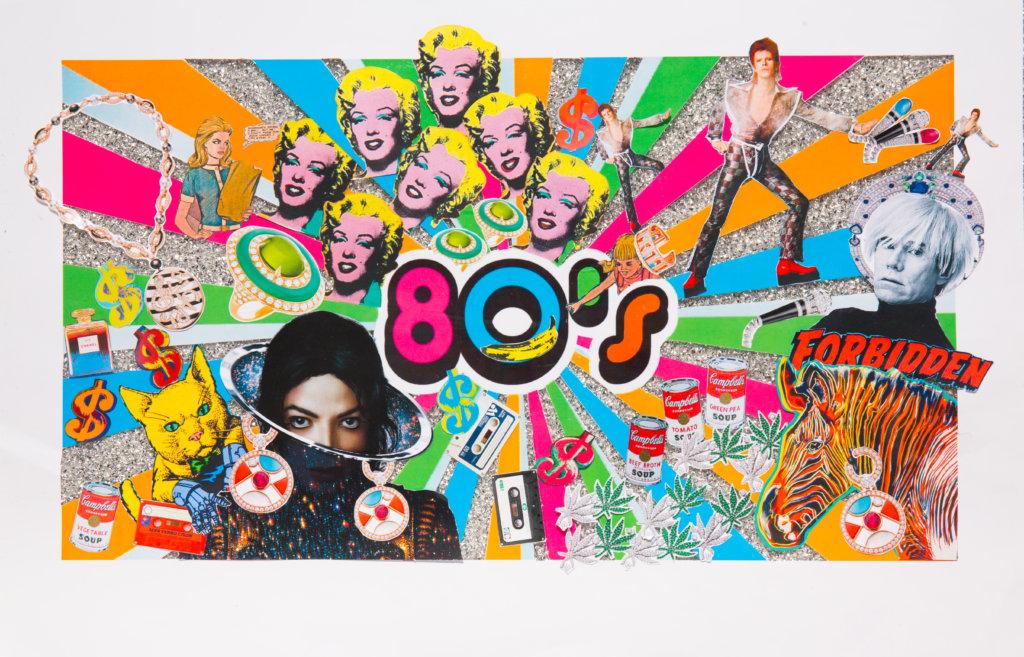 六十年代已有普普藝術的興起,加上龐克風潮,反叛、自 我、前衞簡直是當時人們思想和行為的形容詞,自由派對和搖 滾文化帶領時尚潮流,直至八十年代的誇張風格,一直為藝術 及時尚設計師帶來無窮無盡的靈感。