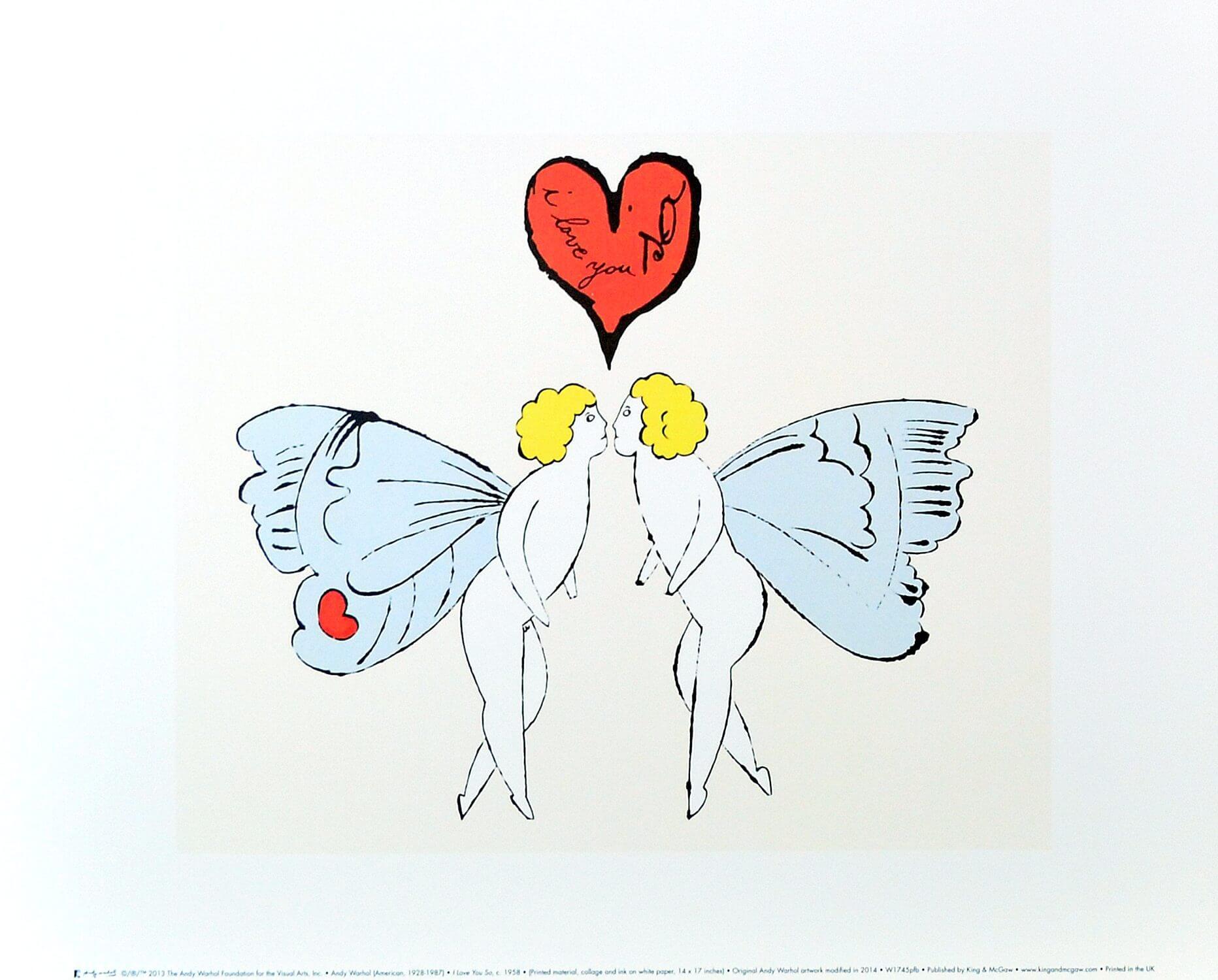 Pop Heart頸鏈便是受其畫作《I Love You So (Angel)》啟發,畫中天使的藍色雙翼和濃烈的愛意化為一顆耀目的53.80克拉坦桑石,狂放又浪漫,將普普藝術融入了高級珠寶。