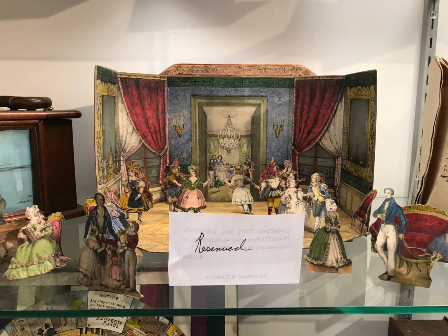 十九世紀跳舞會紙劇場玩具