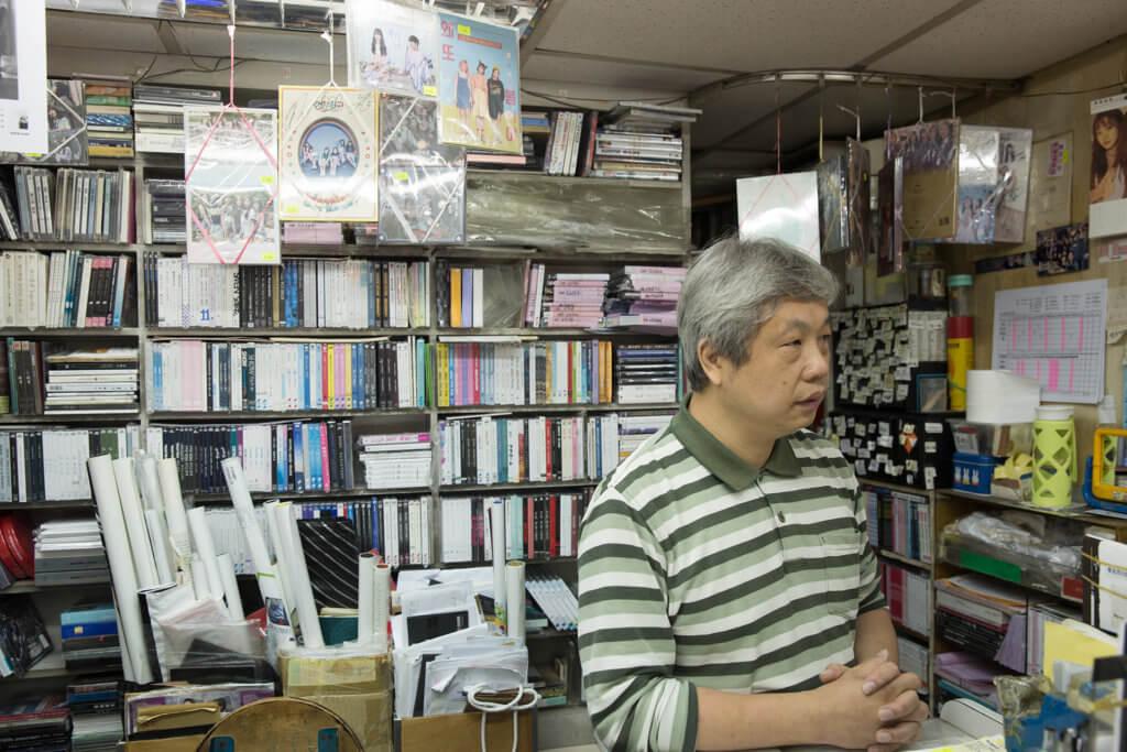 David入行賣唱片三十多年,是旺角信和Echo CD Centre的店主。