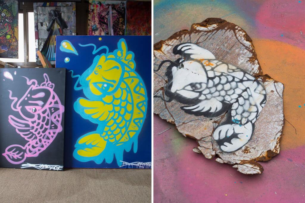 錦鯉是Szabotage最具標誌性的作品,亦是他在藝術創作上的轉捩點。