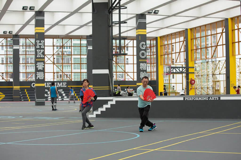 翻新後的運動場用途多元化。