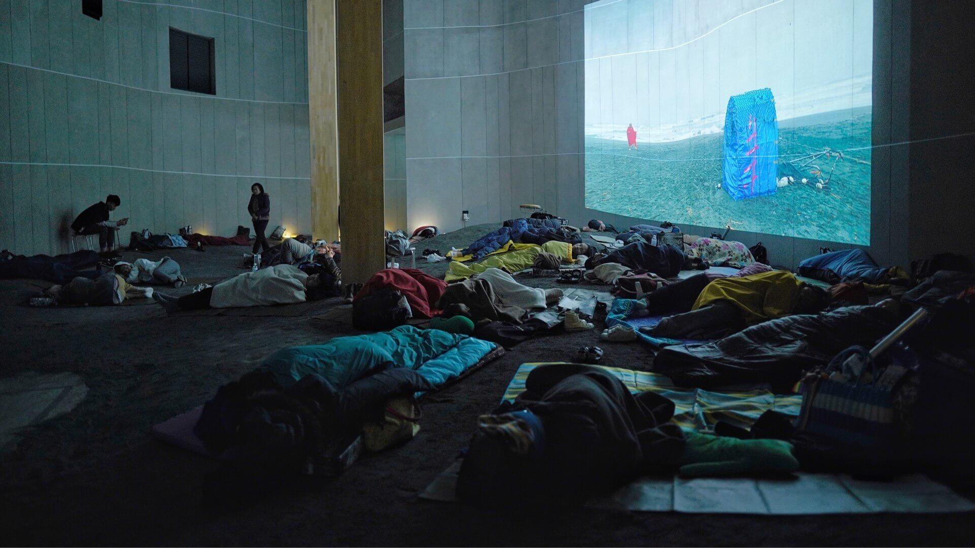 蔡明亮還發起過「夜宿美術館」活動(圖片:蔡明亮臉書專頁)