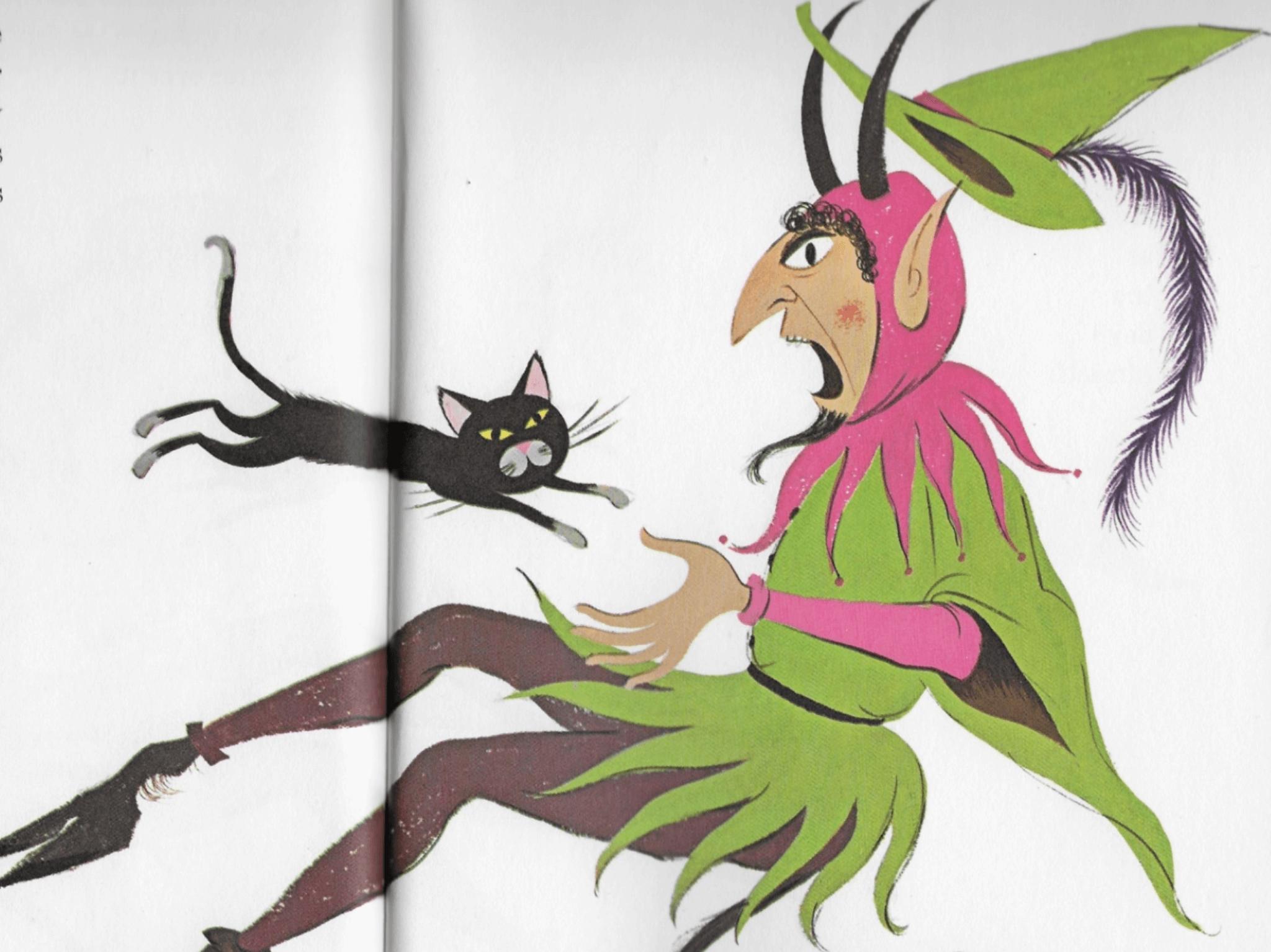 《貓與魔鬼》Richard Erdoes畫