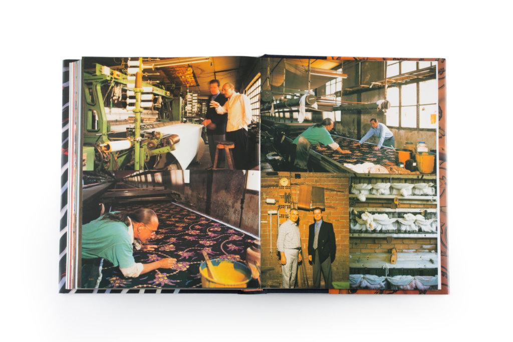 Armin Heinemann早前推出《Paula's Ibiza: 25 Years》 一書,圖中展示他於工廠中處理印花布料。