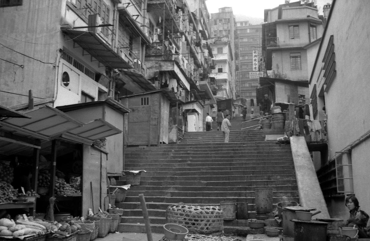 1974年的城皇街。圖片由高添強先生提供
