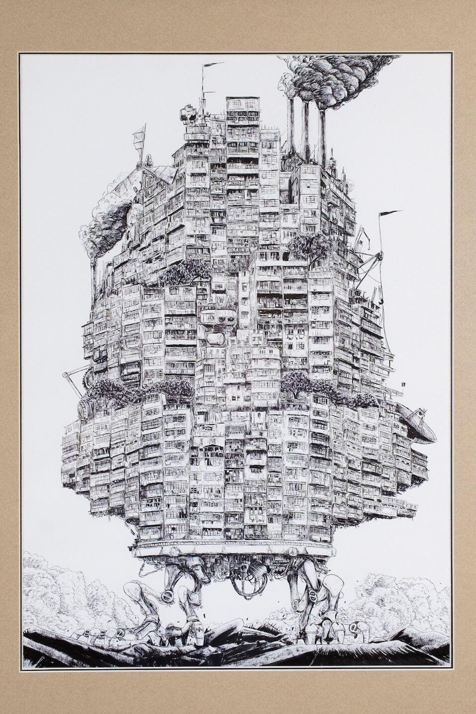 城市發展容不下非摩天大樓的舊建築,唐樓只好展開「走佬之旅」。
