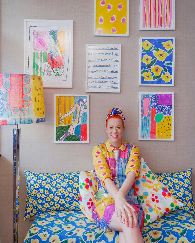 Helen Bullock早前來港參加iBLUES店舖活動和HARBOUR ART FAIR 2019
