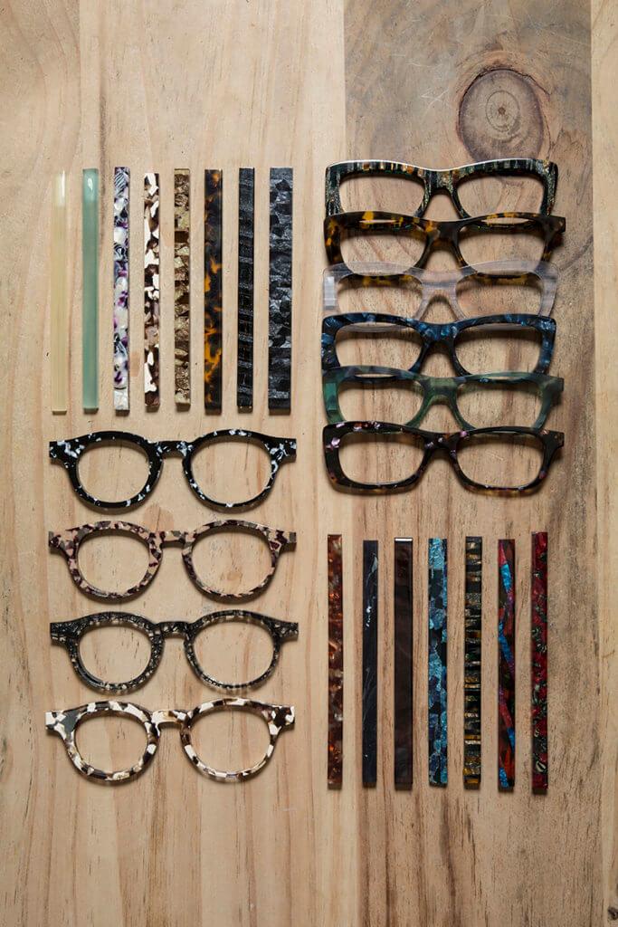 由眼鏡臂、鏡架板材、形狀、顏色等都可自由配搭。