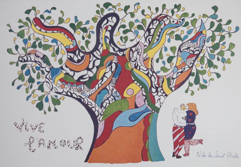 今次除了雕像,也會展出多張Niki畫作,她的畫作直白地訴說愛與思念,帶點小女孩天真的筆觸。