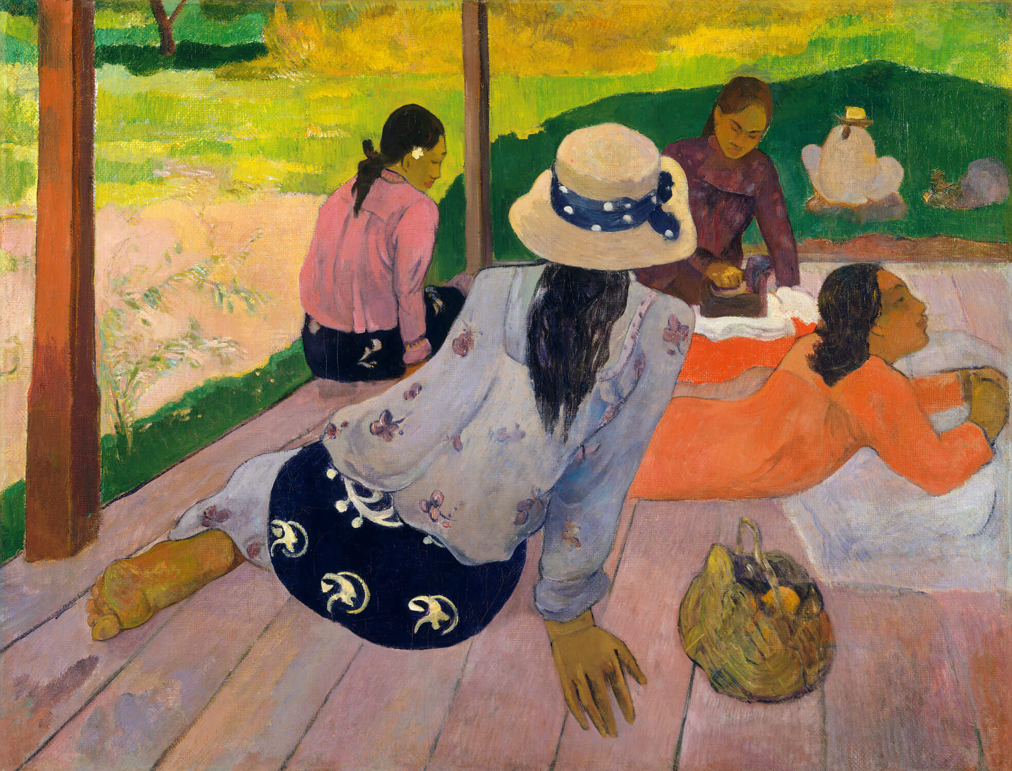 "Paul Gauguin, ""The Siesta"""