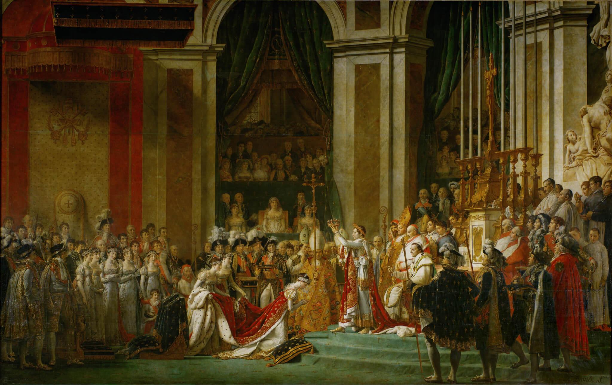 "Jacques-Louis David, ""The Coronation of Napoleon"""