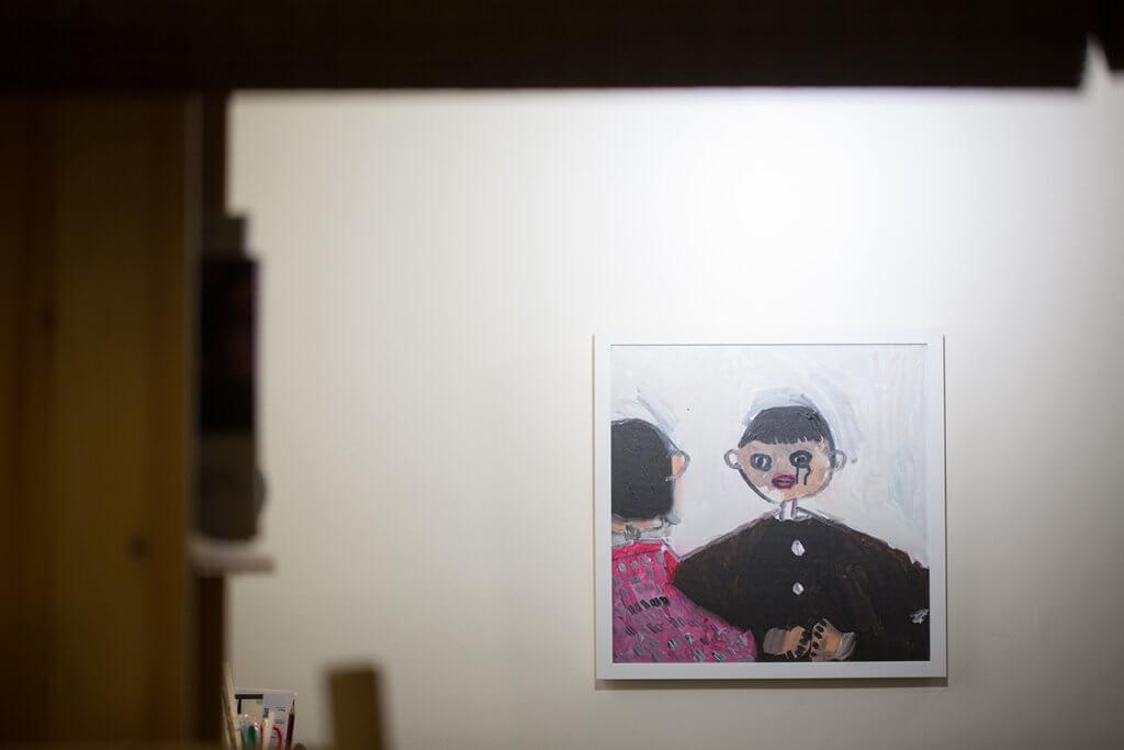 創作這幅畫的當日,主題是畫出眼前景象,一幅沾了過多墨水的畫作,讓很多人也誤以為畫者內心有很多鬱結。