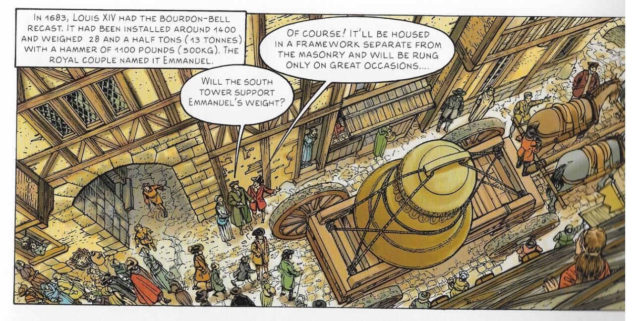 法國國王路易十四在1683年下令鑄造的艾曼紐大鐘,重28噸半。