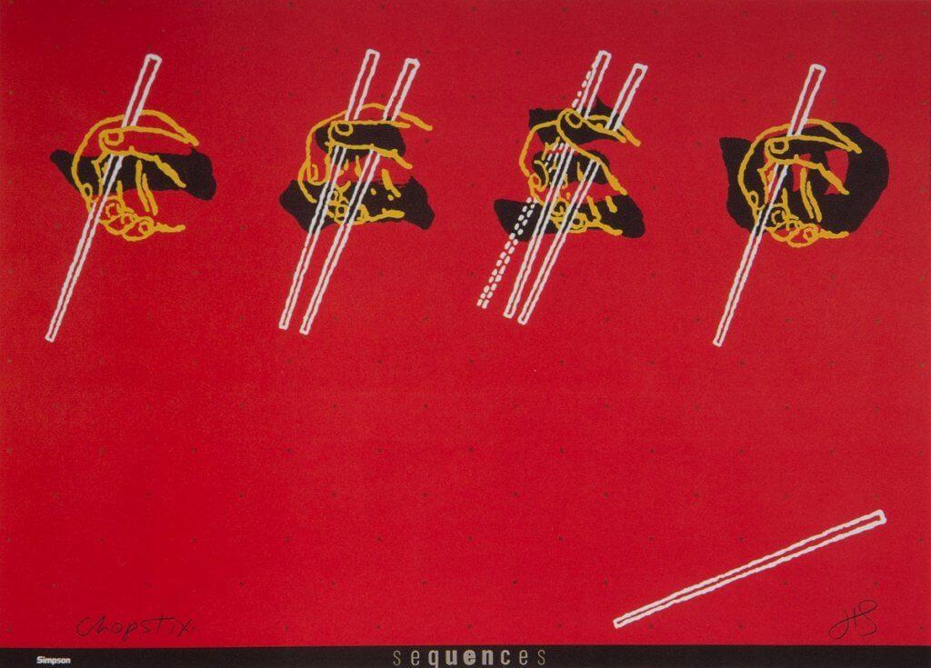 筷子是他心目心最出色的設計,他亦巧妙地把筷子與中國數字結合。