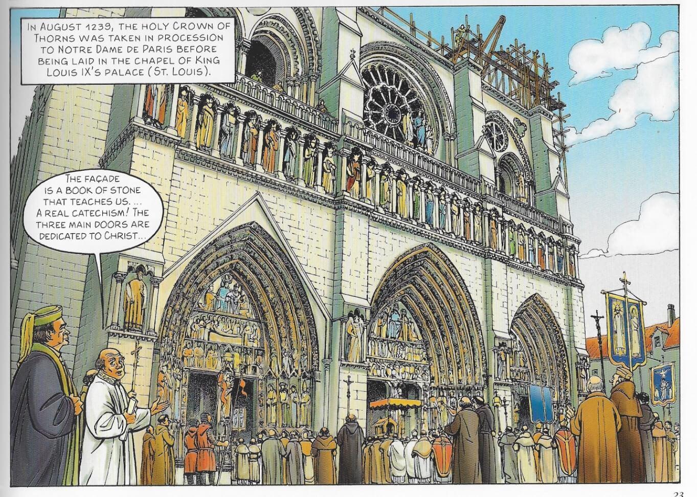 1238年巴黎聖母院的正面尚待完成