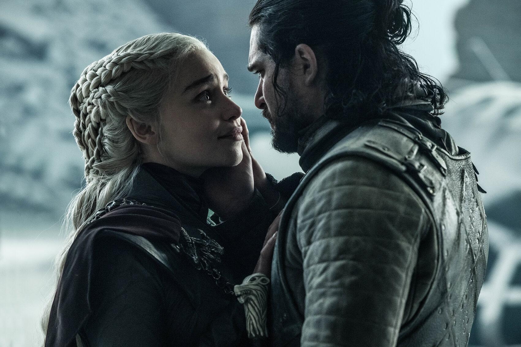 代表冰與火之歌的Jon Snow 和Daenerys