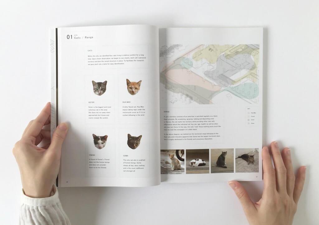 《HABIT©AT》一書記錄了四隻街貓的生活地圖。
