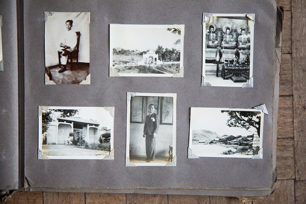 黃佩佳(下排中間)的後人把他留下的相片保存得完好,記錄了他與友人結伴行山的情況,也有不少風景照。(按圖放大)