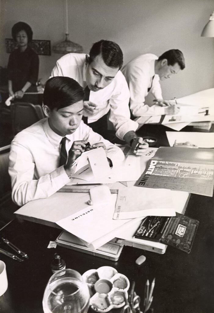 Henry昔日跟員工共事的畫面可見當時電腦尚未盛行,做設計需十分hands-on。