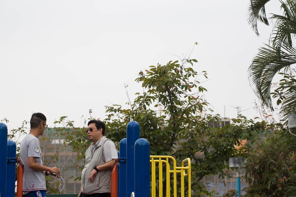 公園就在柏霑讀過的小學附近,兩父子以前在此度過不少快樂時光。