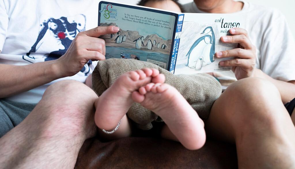 為了教育Ethan,二人買了不少多元性別和家庭的兒童故事書。