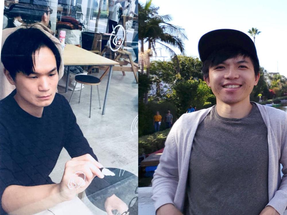 「DFA香港青年設計才俊獎2016」得獎者湯文舜(左)與關鎮陞
