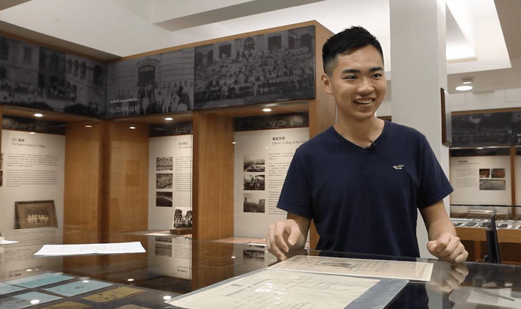 皇者仁風校史館名譽助理館長郭浩揚本身讀歷史,對校友黃佩佳的故事頗好奇。