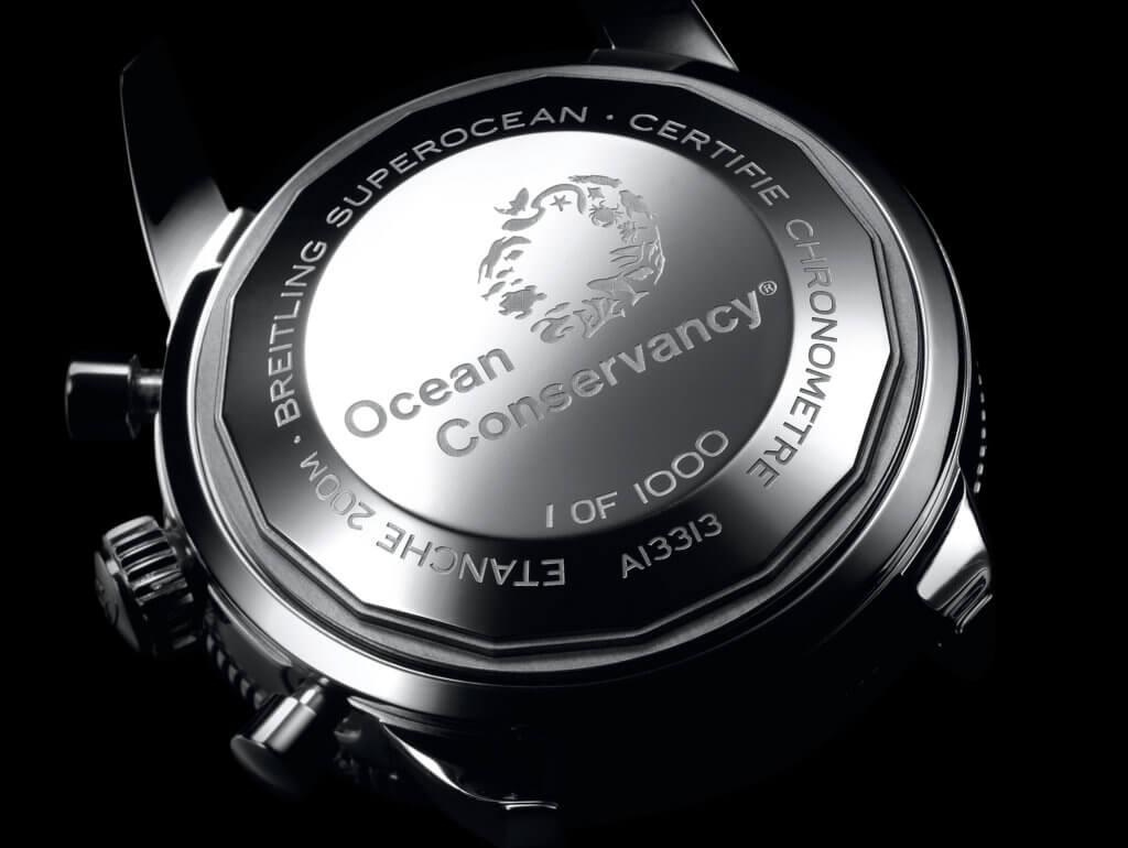 Breitling超級海洋文化「海洋保護協會」限量版腕錶在細節上加入了不少海洋特色
