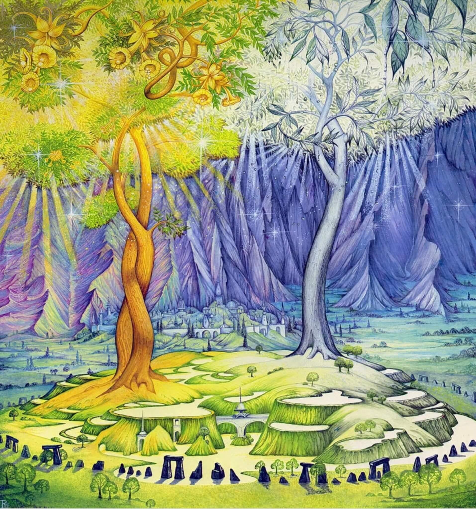陶更神話中的兩棵金樹、銀樹。後遭妖魔毀掉。銀樹的最後一片葉化作月亮,金樹最後的果子化作太陽。