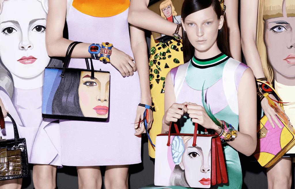 Jeanne Detallante曾為Prada 2014春夏系列繪畫了一系列的女性人像