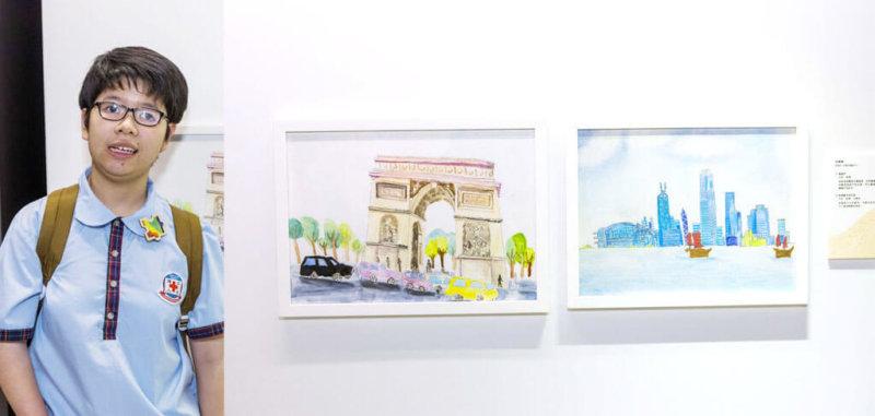 何婷婷擅長以木顏色描繪不同的城市風景,除了愛畫維港和凱旋門外,現正學習畫巴黎鐵塔。