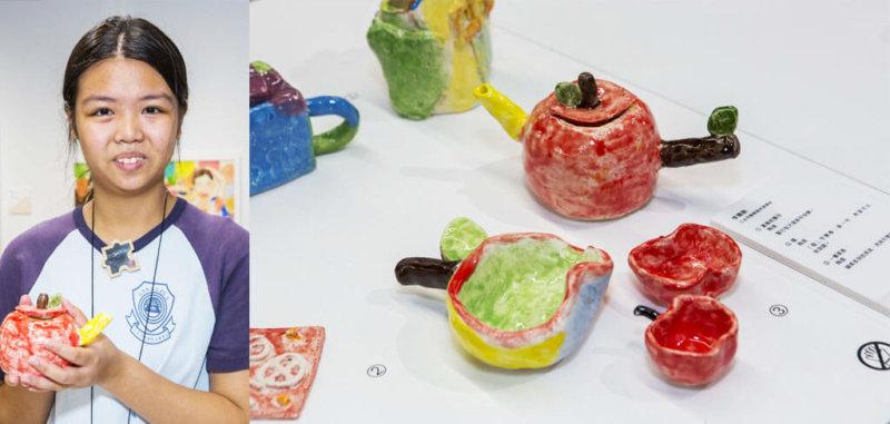 李佩銓最愛上陶藝課,蘋果陶瓷茶具只花兩堂便完成,她指課堂很好玩,三小時轉眼已過。