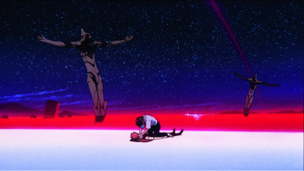 碇真嗣完成人類補完計劃,醒來後卻立即想勒死明日香。