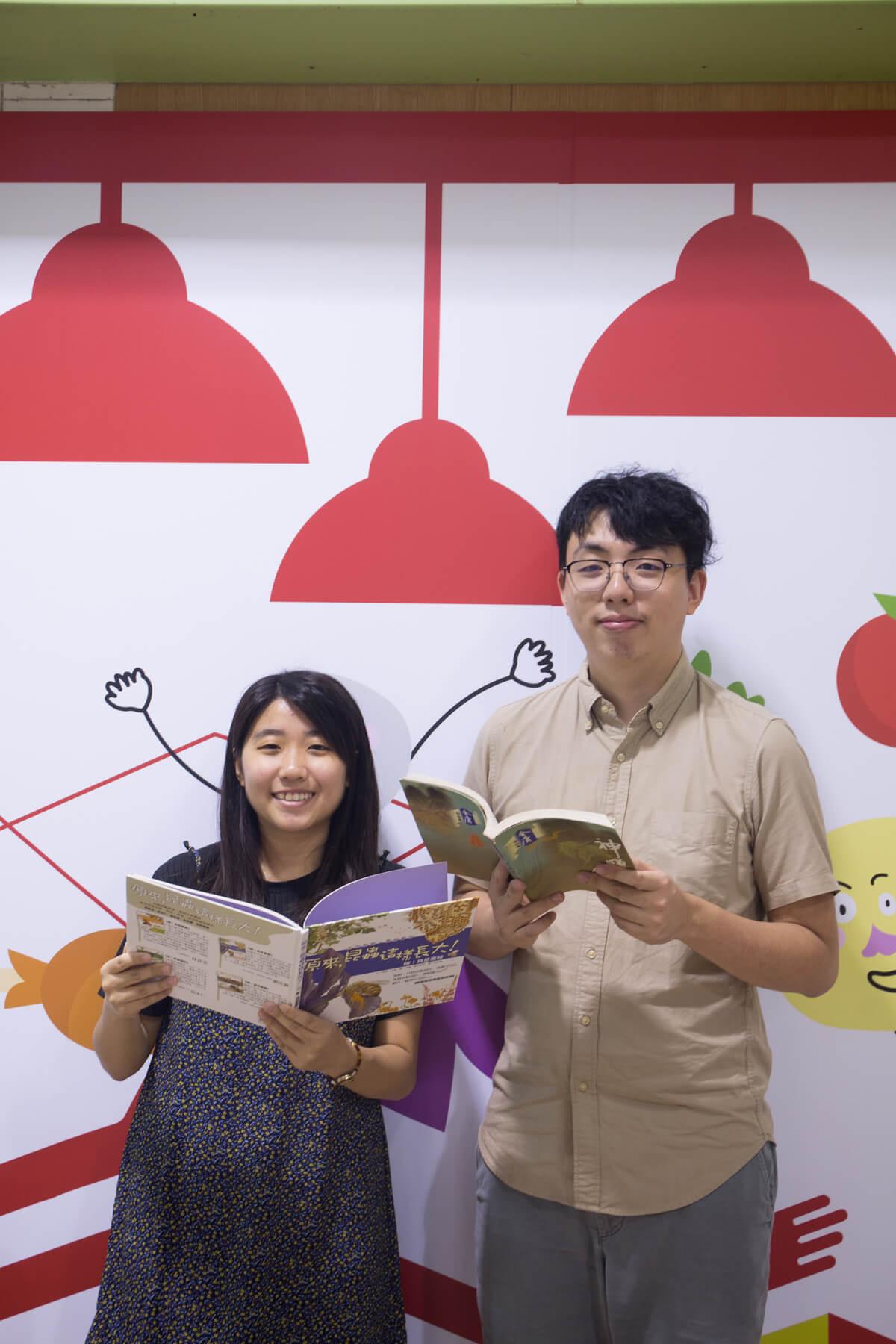 莊業豐(Vincent)及胡頌思(Joyce)都是「實驗圖書館」團隊的成員,希望推動圖書館的革新。