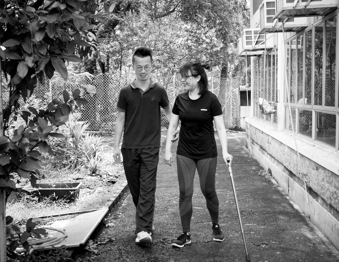 物理治療師Jeffrey期望,自己可以盡快「甩身」。「病人一日連住治療中心,一日都會覺得自己是病人,我希望他們能夠回到日常生活繼續鍛鍊。」
