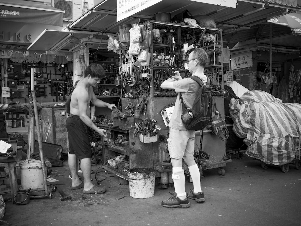 大雄喜歡街拍,常常會在深水埗取景。
