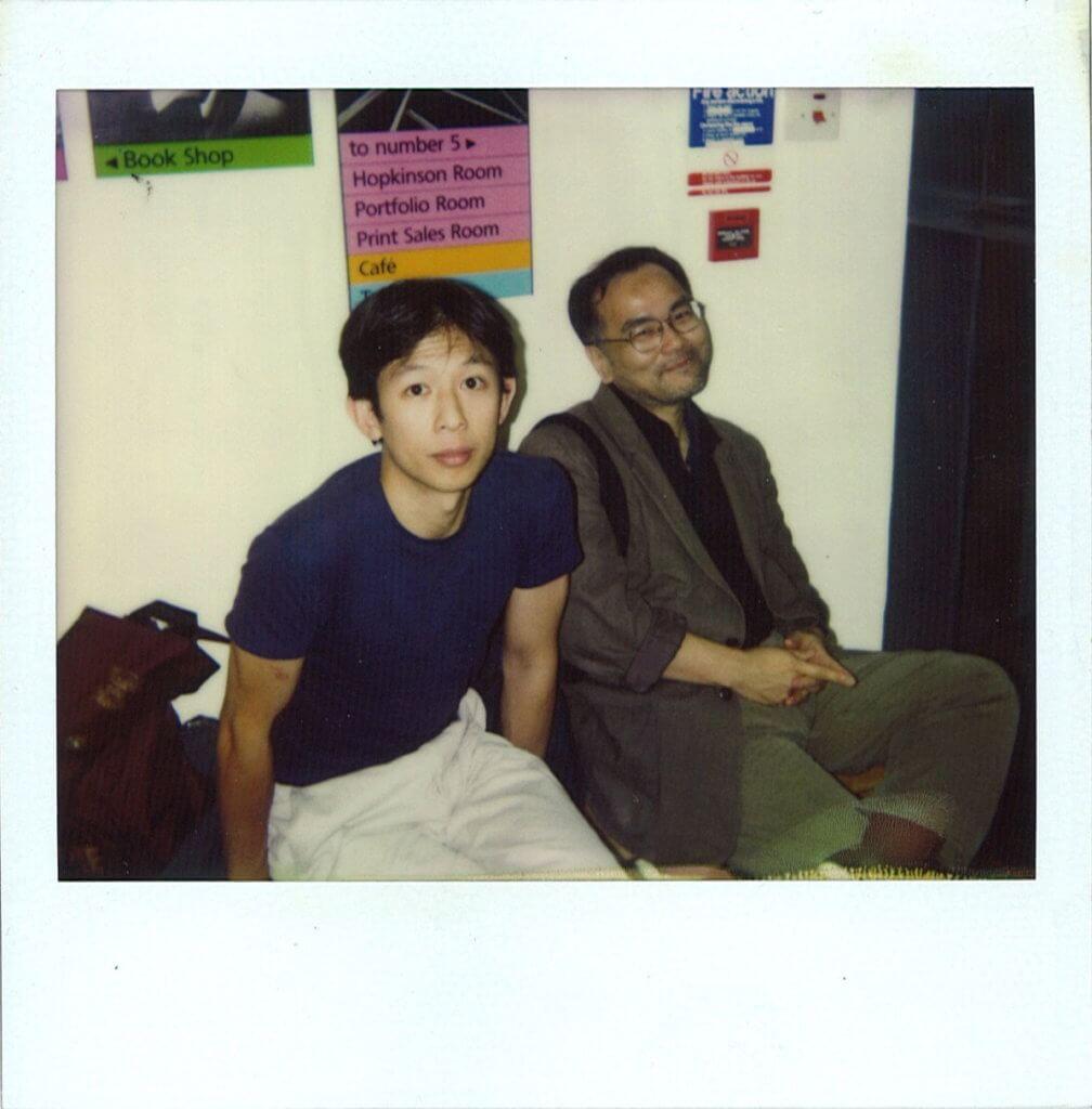 林奕華(左)一直視榮念曾(右)人生中重要的老師